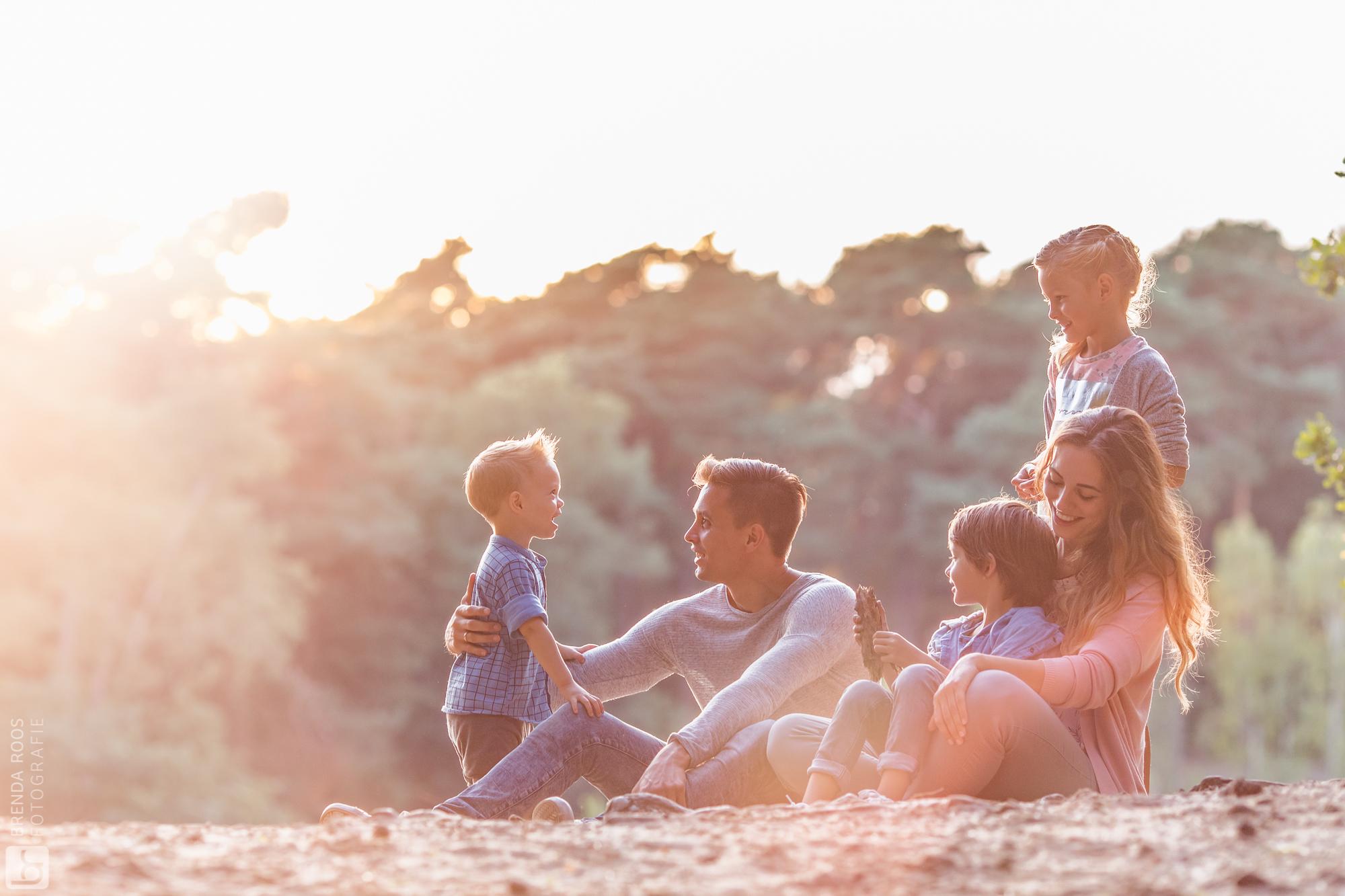 Zomeravond fotoshoot met gezin