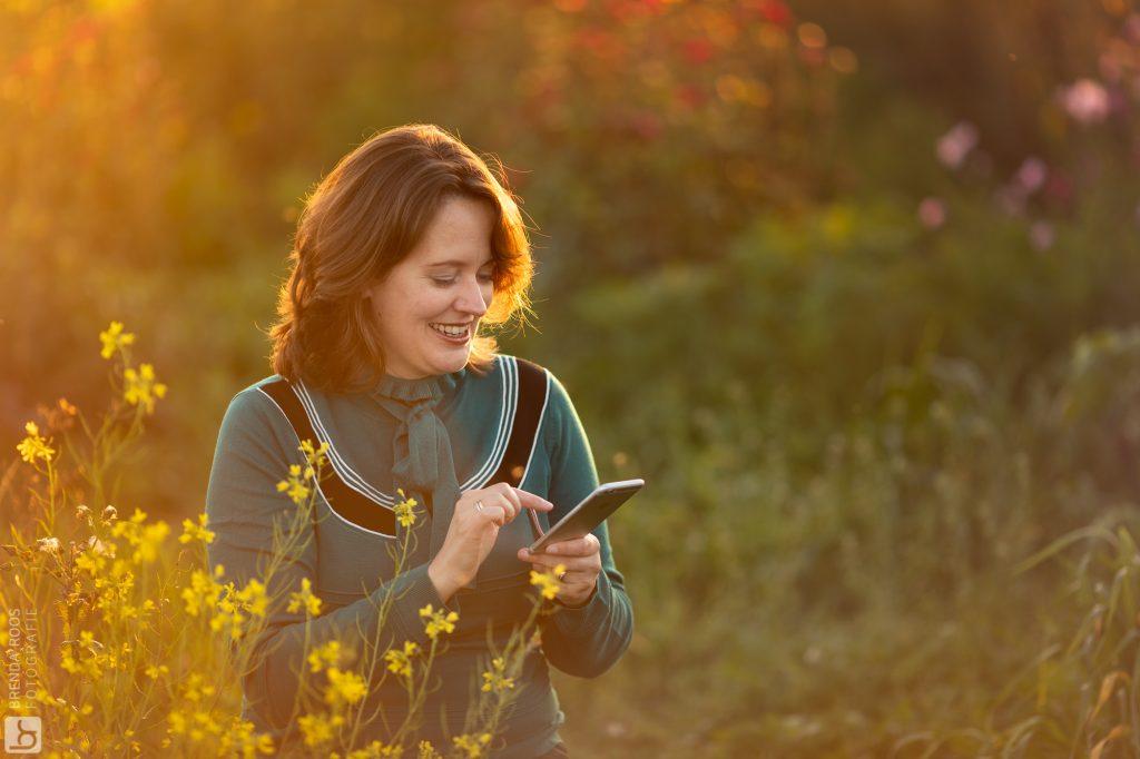 Natuurlijk licht fotograaf hanneke's pluktuin fotoshoot Happy Vitality