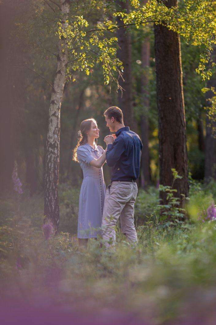 Loveshoot gouden uur fotograaf Lelystad & Veluwe trouw fotoshoot