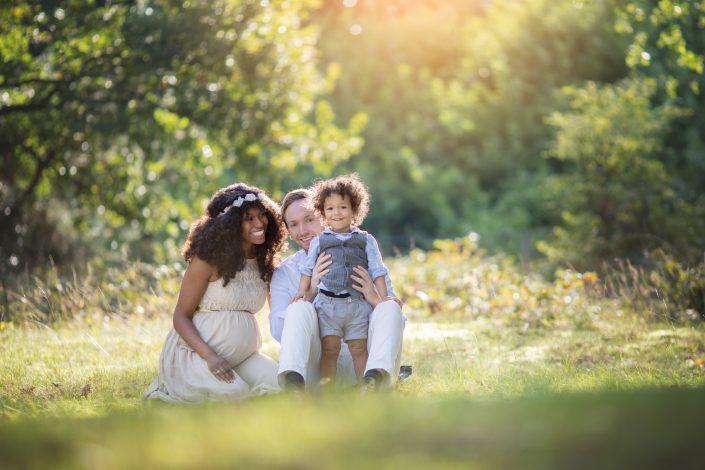 Fotograaf Blaricum zwangerschap gezin heide zwangerschapsfotoshoot