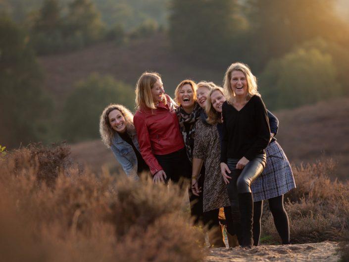 Vriendinnen fotoshoot Veluwe Posbank