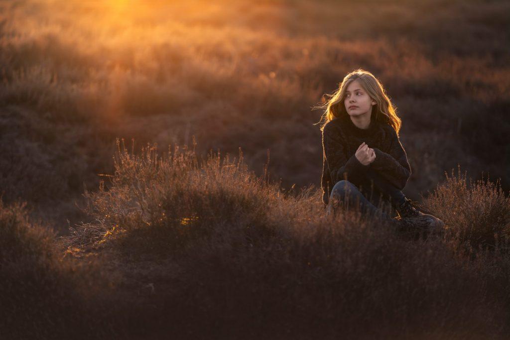 Fotograaf heide Veluwe gouden uur