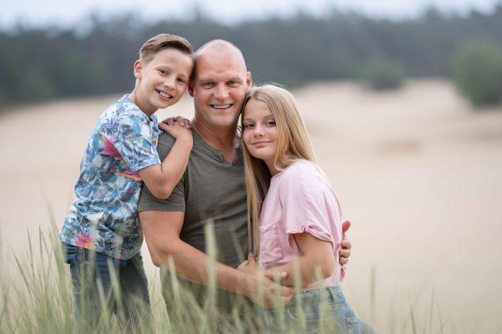 fotoshoot zandverstuiving Doornspijk familie gezin