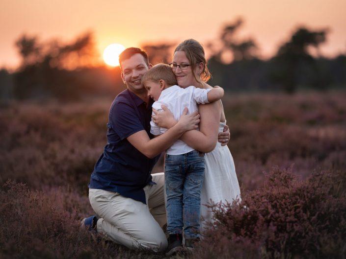 Familytime - Fotoshoot op de paarse heide