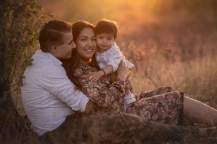 paarse heide golden hour fotoshoot