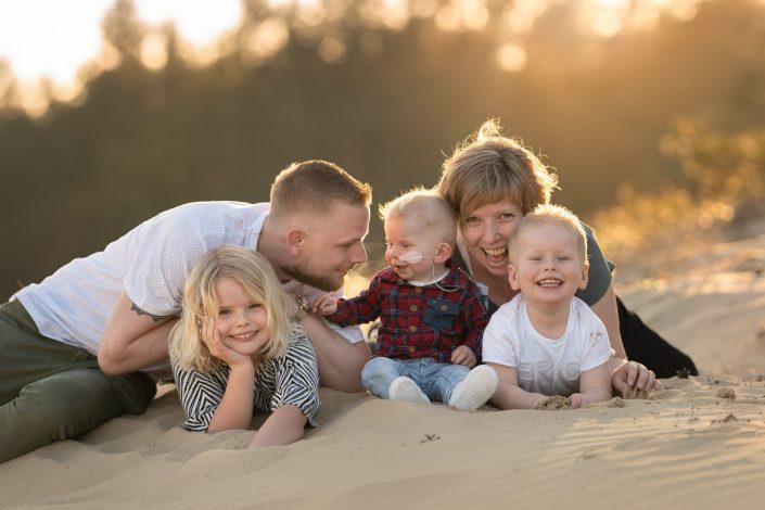 Gezin familie fotoshoot zandverstuiving Hulshorst Nunspeet Harderwijk